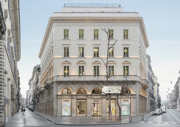 Sketch da instalação que será montada em frente ao Fendi Palazzo (Foto: Divulgação)