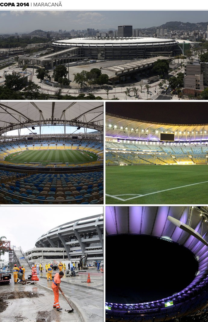 Mosaico Estádio Maracanã (Foto: Editoria de Arte)