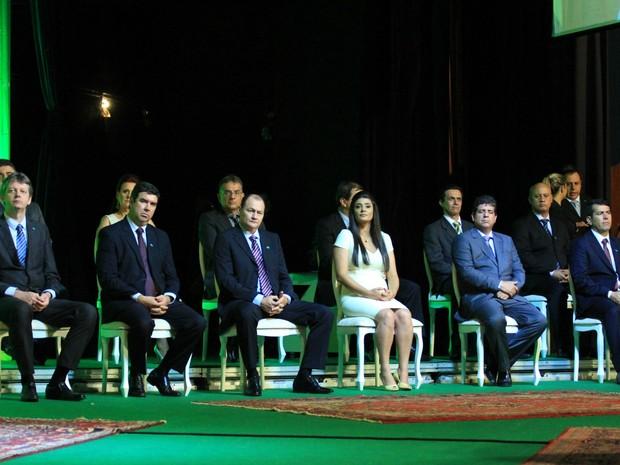 Governador Reinaldo Azambuja empossa novos secretários e chefes de órgãos em MS (Foto: Lucas Lourenço/G1 MS)