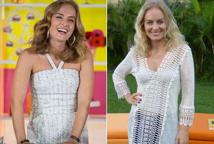 O antes e depois do 'loiro' da Angélica (Foto: Nathália Gomes/Gshow)