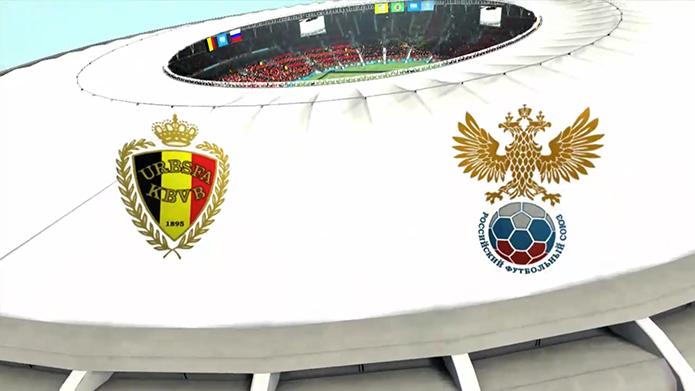 Simulação Copa do Mundo Fifa 2014: Bélgica e Russia (Foto: Reprodução/Murilo Molina)