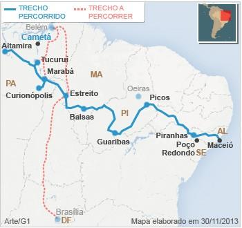 Mapa Bye Bye Cametá (PA)