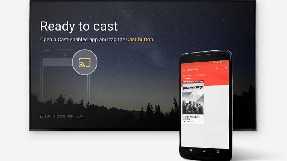 chromecast-e-controlado-pelo-smartphone Saiba como transformar sua TV em uma Smart TV