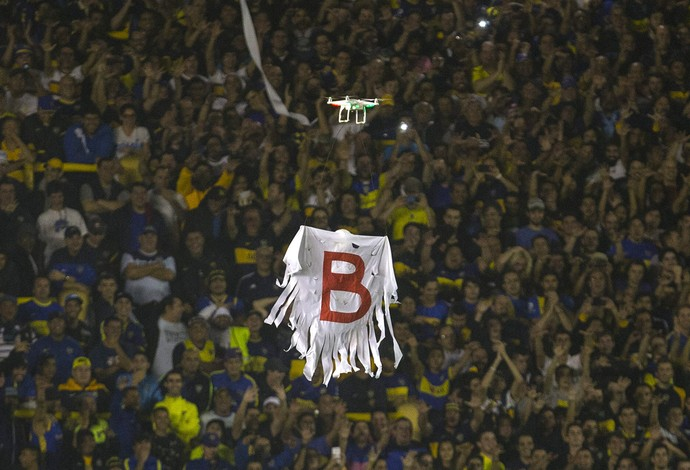 drone, Boca Juniors x River Plate (Foto: EFE)