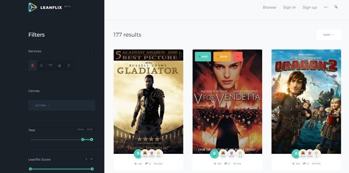 LearnFlix ajuda a filtrar filmes conforme a classificação do cinema (Foto: Reprodução/Barbara Mannara)