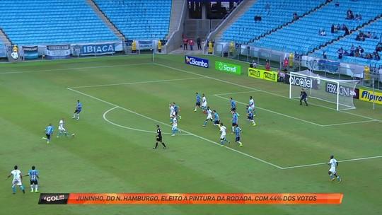 """Míssil de Juninho dá empate ao Novo Hamburgo e é a """"pintura"""" da rodada"""