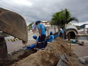 Na zona urbana, a Águas de Paraty iniciou interligação de redes de captação para garantir abastecimento na região do bairro Jabaquara (Foto: Divulgação/Prefeitura Paraty)