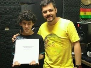 Baterista de Jundiaí cria método em braille para aluno deficiciente visual (Foto: Arquivo pessoal/ Guilherme Favero)