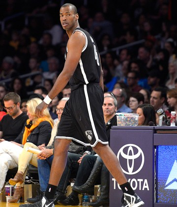 Jason Collins na partida do Brooklyn Nets NBA (Foto: AP)