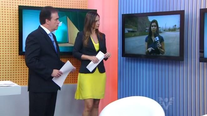Vanessa Machado, Tony Lamers e Tatyana Jorge no Jornal da Tribuna 1ª Edição (Foto: Reprodução/TV Tribuna)