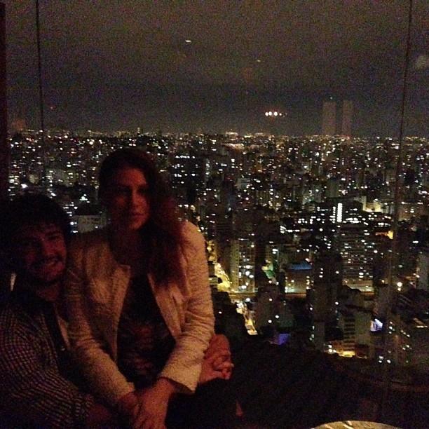 Alexandre Pato e a namorada, Barbara Berlusconi, em São Paulo (Foto: Instagram/ Reprodução)
