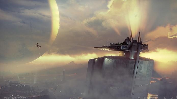 Destiny: a Torre é onde se reúnem os Guardiões e seus mestres. (Foto: Divulgação)