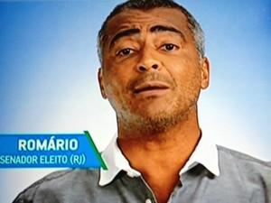 O deputado federal Romário (PSB), durante programa de Aécio Neves (PSDB)
