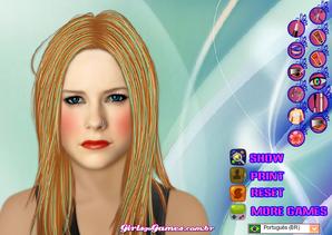 Maquiagem com a Avril Lavigne