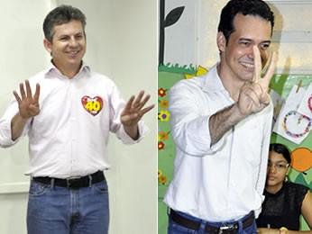 Mauro Mendes e Lúdio Cabral (Foto: G1)