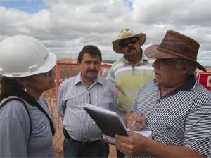 Comitiva visitou obras da transposição (Foto: Divulgação/ALPB)