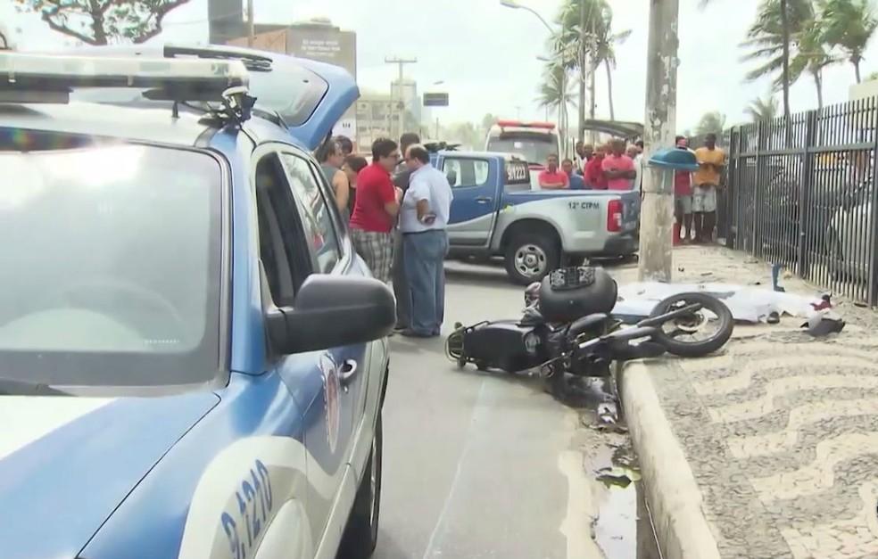 Irmãos morreram em acidente no bairro de Ondina, em Salvador (Foto: Reprodução/TV Bahia)