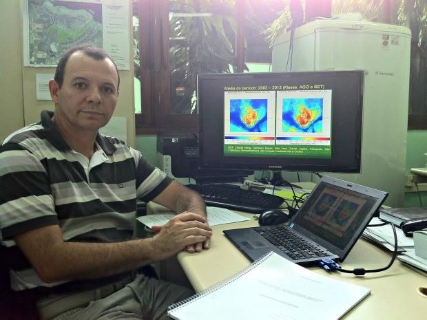 Doutor em Meteorologia pelo Inpe, o professor Francis Wagner é um dos autores de relatório sobre as Ilhas de Calor na cidade de Manaus. (Foto: Tiago Melo/G1 AM)