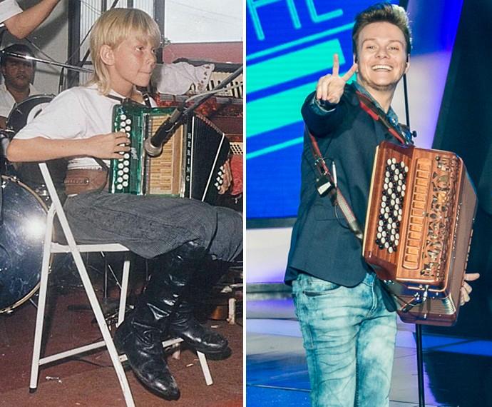 Michel é apaixonado por música desde a infância (Foto: Arquivo Pessoal/Isabella Pinheiro/Gshow)