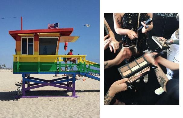 Casinha de salva-vidas do Venice Pride, em Los Angeles, e um debate sobre pó de contorno com as experts e as novas palettes da Kat Von D (Foto: Divulgação)