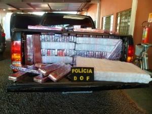 Policiais do DOF apreendem caminhonete com mais de uma tonelada de maconha (Foto: Divulgação/DOF)