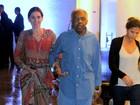 Gilberto Gil vai a evento com a família no Rio