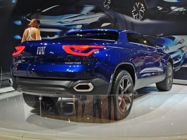 Fiat FCC4, conceito de picape da marca italiana (Foto: André Paixão/G1)