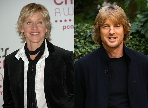Ellen DeGeneres e Owen Wilson (Foto: Getty Images)