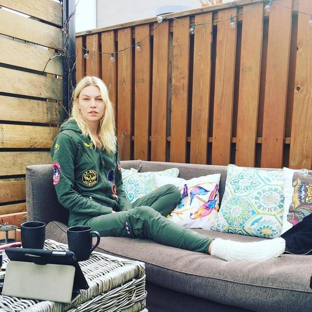 Aline Weber em sua casa no Brooklyn, em NY (Foto: Instagram/Reprodução)