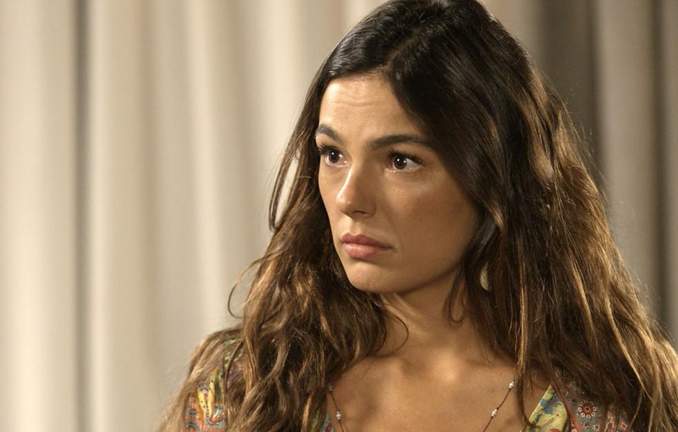 Só que Ritinha não dá importância para os planos do ex  (Foto: TV Globo)