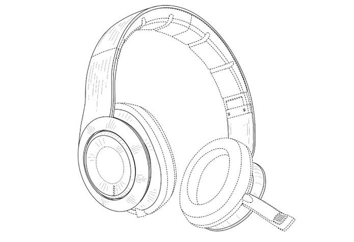 Patente revela fone com microfone embutido voltado para público gamer (Foto: Reprodução/US Patent)