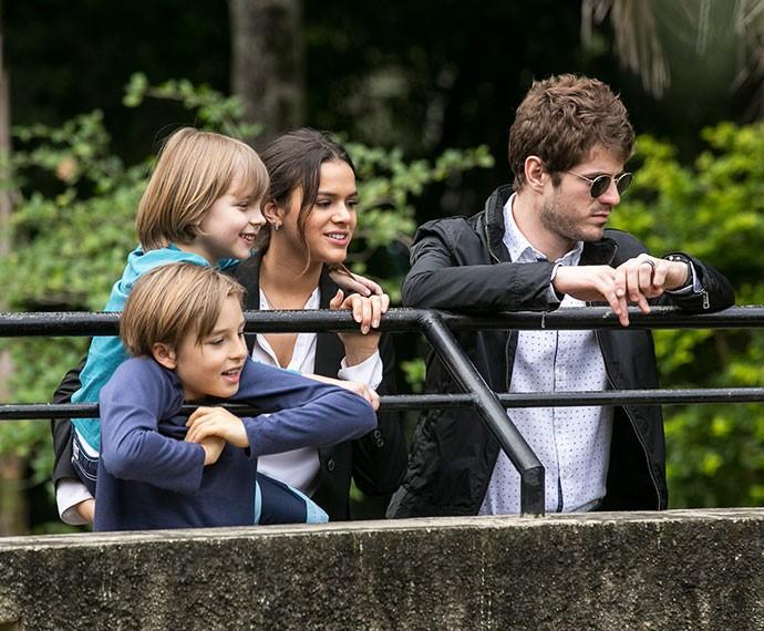 Os quatro ficam admirados  (Foto: Inácio Moraes/Gshow)