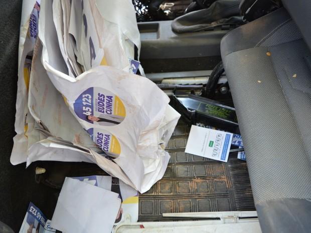 Material da boca de urna foi apreendido pela polícia (Foto: Divulgação/Polícia Civil)