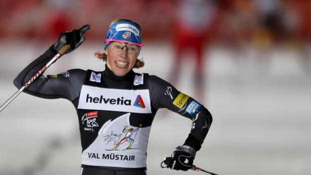 kikkan randall esqui cross country val müstair (Foto: AFP)