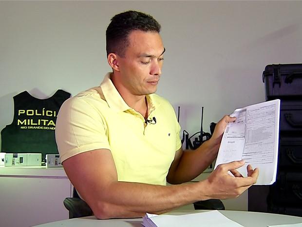 Capitão Styvenson Valentim, coordenador da Lei Seca, denunciou esquema de fraudes no Detran do RN (Foto: Reprodução/Inter TV Cabugi)
