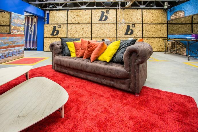 Sofá do segundo andar BBB16 (Foto: Felipe Monteiro/Gshow)