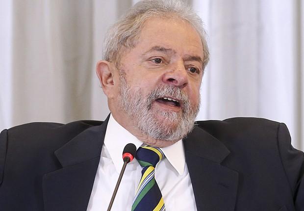 O ex-presidente Luiz Inácio Lula da Silva participa de coletiva à imprensa internacional (Foto: RIcardo Stuckert/ Insituto Lula)