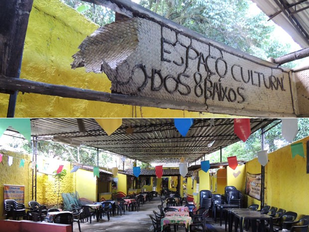 Espaço do Forró de Arlindo sofre com falta de estrutura (Foto: Vitor Tavares / G1)