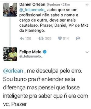 Felipe Melo vice de marketing Flamengo (Foto: Reprodução Twitter)