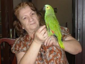 Ibama alega que permanência do animal com a idosa estimula tráfico de animal silvestre (Foto: Humberta Carvalho/G1)