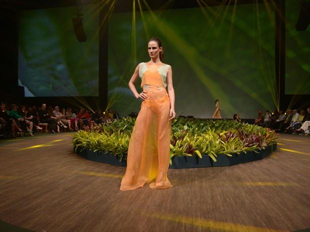 Fernanda Tavares desfila em evento de moda em Belo Horizonte, Mina Gerais (Foto: Francisco Cepeda/ Ag. News)