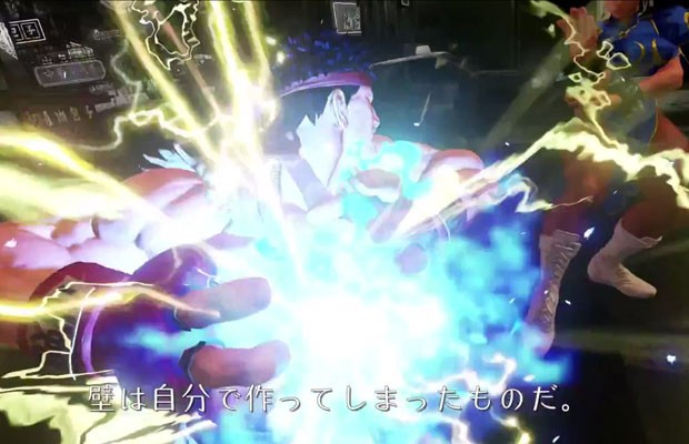 Ryu e Chun-Li em cena do vídeo de apresentação do novo 'Street Fighter V', publicado por engano pela Capcom. (Foto: Reprodução/YouTube.com)