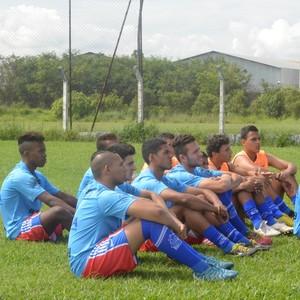 Jogadores do Usac na reapresentação do time (Foto: Bruno Rocha)