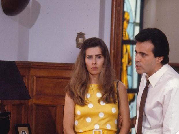 Mait Proena (Helena) e Tony Ramos (lvaro) (Foto: Acervo Globo)
