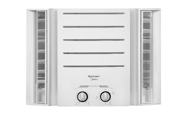 O aparelho mecânico da Springer Midea tem refrigerante ecológico R-410A, que não agride a camada de ozônio. Preço: R$ 1.199, com capacidade de 9 mil BTU/hora (Foto: Divulgação)