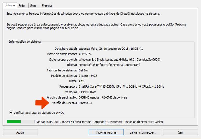 DirectX: como saber a versão e verificar problemas básicos