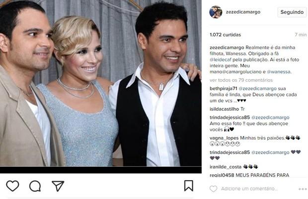 Zezé Di Camargo (Foto: Reprodução / Instagram)