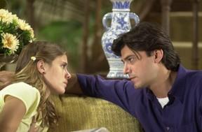 Leonardo Vieira com Carolina Dieckman em Senhora do Destino, em 2004 (Foto: Crédito: TV Globo / João Miguel Júnior)