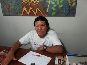 Líder ianomâmi Davi Kopenawa alerta para iminência de novo genocídio (Foto: Vanessa Lima/G1)