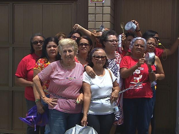 Categoria realiza protesto (Foto: Reprodução/TV Sergipe)